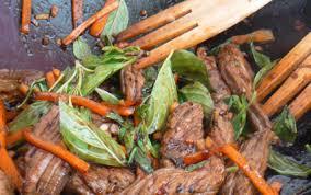 recette cuisine wok recette wok de boeuf au basilic thaï 750g