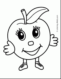 extraordinary printable apple coloring page for kids with apple