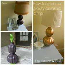 how to paint a glazed ceramic lamp tutorial fry sauce and grits