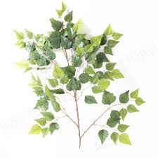artificial birch foliage leaves branches 85cm artificial leaves