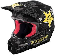 motocross helmet rockstar f2 carbon rockstar matte black charcoal yellow helmet fly racing