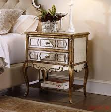 Mirrored Glass Bedroom Furniture Nightstands 3 Drawer Mirrored Bedside Table Tall Mirrored