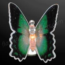 butterfly decorations with color change led wings by
