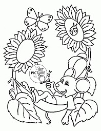 spring pictures coloring pages flowers for printable omeletta me