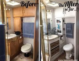 rv bathroom redo dress up your rv rv bathroom