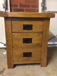 Oak Bedside Tables Original Rustic Solid Oak 3 Drawer Bedside Table Oak Furniture