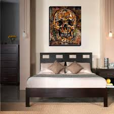 day of the dead home decor skull art print sugar skull canvas day of the dead painting