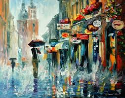 paint places summer downpour 2 palette knife modern art oil painting on canvas