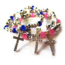 free set bracelet images Set of 3 rosary bracelets free shipping jpg