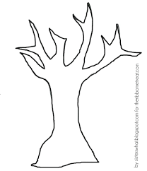 fall tree printable free trunk template family 6 generations
