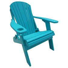 poly lumber wood folding adirondack chair with cup holder aruba