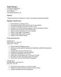 Server Job Description Resume Sample by Free Catering Server Resume Template Sample Ms Word