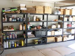garage closet design roselawnlutheran interesting dark grey shelves for easy garage storage ideas on concrete flooring under white ceiling