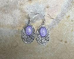 nickel free earrings australia purple jewelry etsy