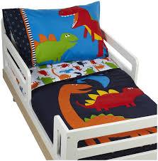 Dimensions Of Toddler Bed Comforter Amazon Com Carter U0027s 4 Piece Toddler Bed Set Prehistoric Pals