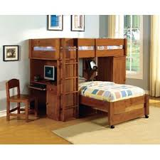 Bunk Bed With Storage And Desk Bunk Beds Loft Beds With Desks Wayfair