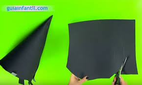 como hacer un sombrero de carton sombrero de bruja manualidades con cartulina