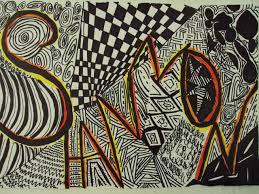 pattern art name name designs 6th grade thinkcreateart