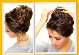 low bun hairstyle with braid