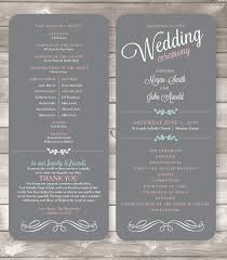 printed wedding programs printed wedding programs 4x9 inches soft gray style p2