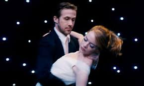 ryan gosling emma stone couple film gosling and emma stone attractively dance in la la land first full
