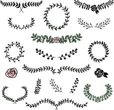 simple laurels frames ornament vector free vector in adobe