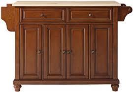 cherry kitchen island amazon com crosley furniture cambridge kitchen island with