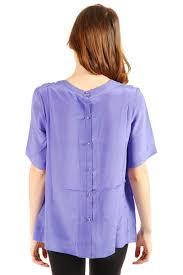 button blouses gat rimon silk back button blouse from germain des prés