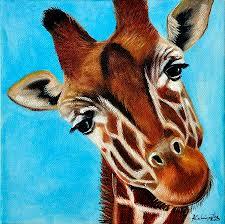 giraffe painting by adriana fox