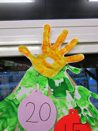 always arty hand print tree advent calendar