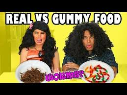 Challenge Alx 18 Best Real Food Vs Gummy Food Images On Food