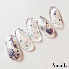 amaily japanese nail art sticker sea aurora holographic