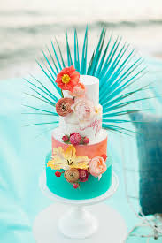 Tropical Themed Wedding Cakes - tropical wedding cake bursting with color by mjb cakes wedding