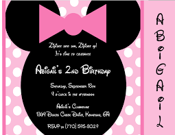 beauteous minnie mouse birthday party invitations birthday party