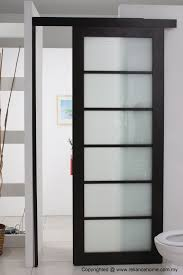 Glass Doors For Closets Looking Frosted Sliding Single Bathroom Doors For Minimalist