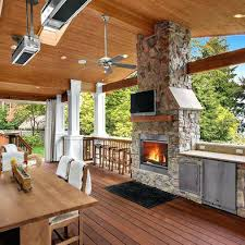 how to build an outdoor fireplace on a deck how to build an