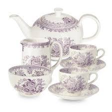 tea set plum asiatic pheasant tea set burleigh pottery