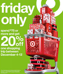 friday black target black friday target deal 20 off coupon wyb 75 00 ftm