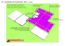 calcul surface utile bureaux surface de plancher illustration sur un projet de maison