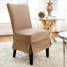 Fabric To Cover Dining Room Chairs Dining Room Brown Fabric Dining Room Chair Covers With Half Skirt