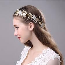 bridal tiara gold laurel leaf headpiece gold bridal tiara crown pearl