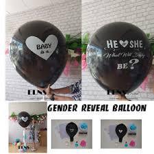 gender reveal balloons gender reveal black balloon it s a girl boy confetti xl pink blue