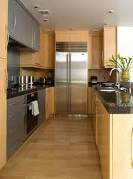 cozy galley kitchen with portable island idea great ideas of