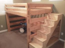 built in bunk bed plans with stairs home decor ideas