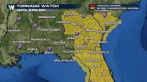 Valdosta Map Three Different Pds Tornado Watches Issued Weathernation