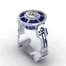 awesome wedding ring awesome r2 d2 wedding ring geekshizzle