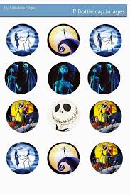 free the nightmare before christmas digital bottle cap images