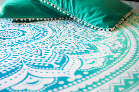 Beach Bedspread Amazon Com Hippie Mandala Tapestry Bedding With Pillow Covers