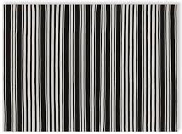 Black And White Stripped Rug Simple Stripes For Summer