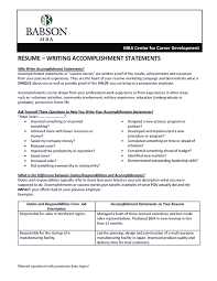 help with resume resume accomplishment statements examples about resume sample with resume accomplishment statements examples with format with resume accomplishment statements examples